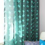 Türkisfarbene Vorhänge sind die beste   Option