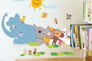 Fuloon wandtattoo tiere Wandsticker Kinderzimmer / Wandtattoo elefan