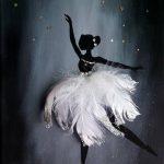 Swan ballerine - cadeau pour les enfants chambre Chambre enfant chambre décoration enfants chambre art enfants chambre sticker garçons chambre décor filles chambre décor bébé art