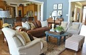20 Ideas farmhouse living room brown couch leather chairs