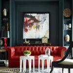 21 Living Room Tufted Leather Sofa Designs    2019  21 Living Room Tufted Leathe...