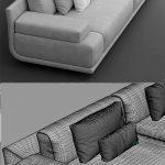 3d models: Sofa - Sofa fendi casa artu sofa