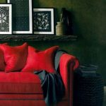 40+ Ideas Living Room Red Couch Leather Wall Colors