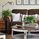 48 Lovely Farmhouse Living Room With Leather Sofa Ideas