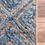 4'X6' Braided Denim Rugs Runner Soggiorno Sala da vivere Solid Area Tappeto Indian Jute Rugs