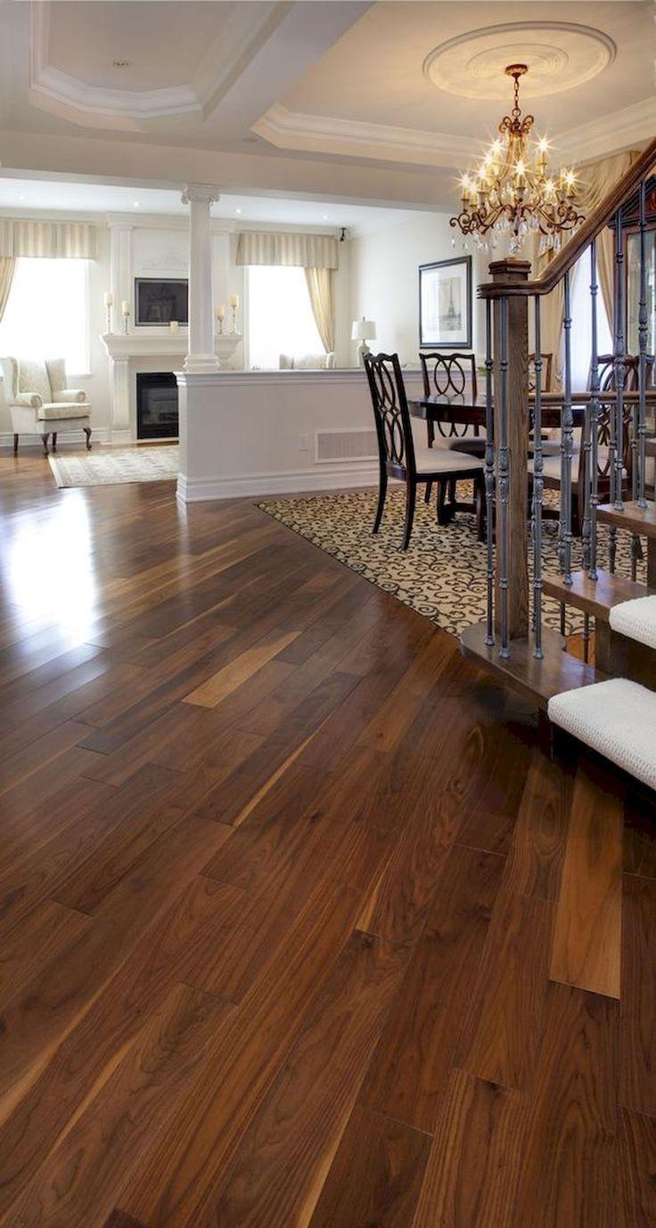 80 Gorgeous Hardwood Floor Ideas for Interior Home,  #Floor #Gorgeous #Hardwood #hardwoodFloo…