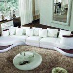 Amazon.com: Contemporary Plan Modern White Sectional Sofa LF-105: Kitchen & Dining
