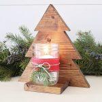 Applique en pot de maçon pour arbre de Noël en bois de bricolage - Wood Design