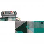 Axle, tapis tufté 160 x 230 cm, vert multicolore