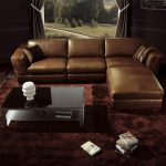 BO3960 Contemporary Brown Leather living room furniture