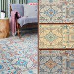 Bathroom Lino Mosaic Design Retro Vinyl Flooring Non Slip Sheet Cushion Floor  | eBay