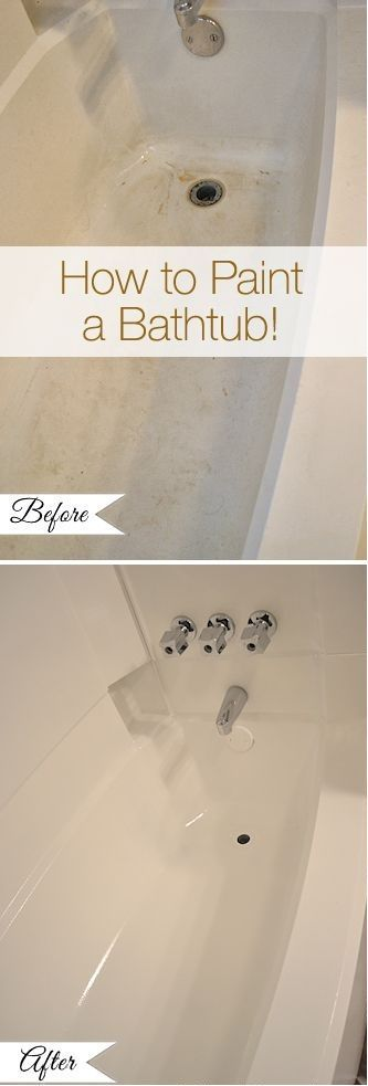 Bathroom Makeover Day 11: How To Paint A Bathtub – Addicted 2 Decorating®