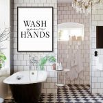 Bathroom Sign, Wash Your Hands, Bathroom Print, Bathroom Decor, Bathroom Art, Bathroom Rules, Black and White Art, Calligraphy Art, Prints