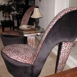 Cheetah print high heel chair....I've  always wanted one of these chairs!!!!