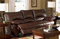 Clifford Double Reclining Sofa in Brown Leather by Coaster – 600281