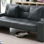 Coaster Furniture Black Faux Leather Sofa Bed