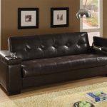 Coaster Montego Convertible Leather Sofa in Dark Brown