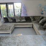 Crushed Velvet Corner Sofa, L Shape Sofa, U Shape Sofa - Designer James and Rose  | eBay