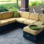 DIY Outdoor Sectional. Build it yourself out of regular wood from a home improve...
