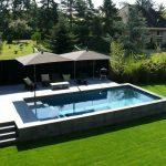 Decor - Pools : Piscine hors sol réalisée en béton par carré bleu Linas : Architecte :LODE ... - Decor Object | Your Daily dose of Best Home Decorating Ideas & interior design inspiration