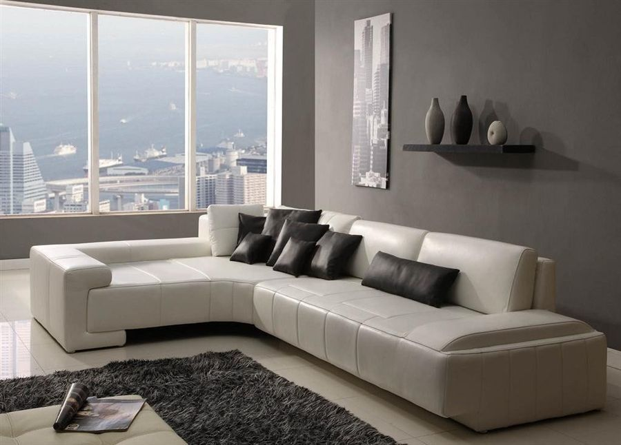 Franco Collection Modern Sectional Sofa – White TOS-RF-1007-WHITE