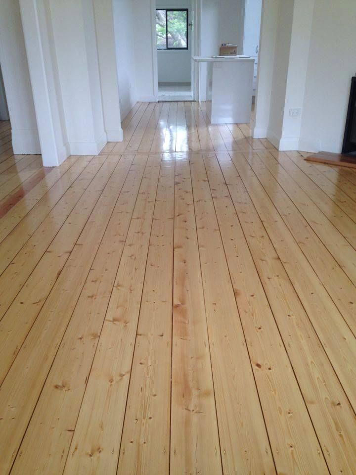 Gorgeous old Baltic pine floor brought back to life! Sanded and finished with Po…
