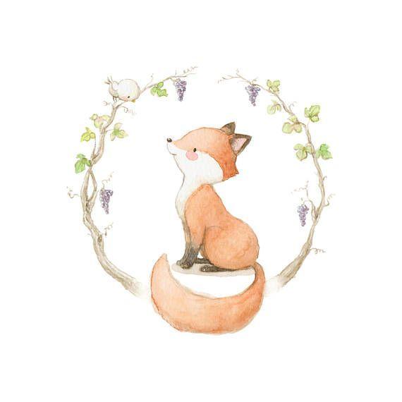 Happy Fox interior décor children wall sticker kids decal by Aida Zamora – Esra Alhammadi – BuyThenNow