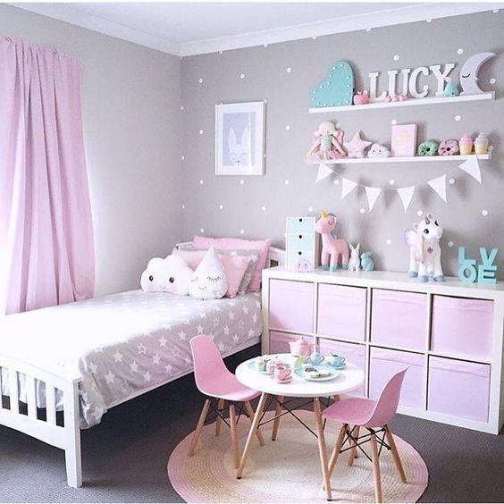 Ideen für Mädchen Kinderzimmer zur Einrichtung und Dekoration. DIY Betten für…
