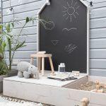 Im Freien | Kinder | Spielbereich | Sandkasten | Tafel | Hocker Deck | Pflanze |… - https://pickndecor.com/haus