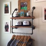 Items similar to Industrial Clothing Rack and Double Shelf - Closet Organizer - Laundry Room Shelf - Clothes Hanger - Rustic on Etsy
