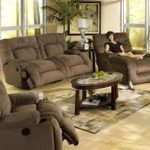 Jackpot 2 Piece Power Reclining Sofa Set in Coffee Microfiber Fabric by Catnapper - 6981-C-S
