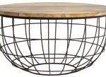 Light & Living Divan Side Table Rust Wood Dia 80cm