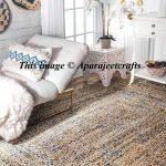 Meditation mat jute rag rugs bohemian decor Braided RAG RUG Rectangle carpet rugs colorful area rugs home decor rug floor rug Arts 3x5 feet
