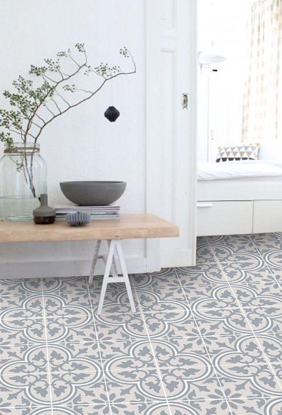 Moderner Linoleumplattenboden – Haus Dekoration
