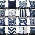 Navy Blue pillow cover One cushion cover in Premier Navy Slub on white throw pillow ocean beach decor