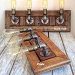Old Board Bathroom lights, Bathroom Vanity Light Fixture, Bathroom Light, Rustic Fixture, Bathroom Lighting, Wall Light, Steampunk lamp