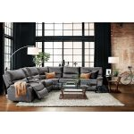 Orlando 6-Piece Power Reclining Sectional with 3 Reclining Seats