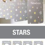 PRINTABLE Gray Stars Closet Dividers, Boy Nursery Closet Dividers, Baby Organizers, baby closet dividers boy, Neutral, Boy Baby Shower Gift