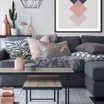 Pink and Bronze Geometric Scandi Printable Art • Printables In Sizes To Fit 20+ Frame Size Incl Extra Large Wall Art Prints