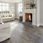 Planchers de bois franc de salle de séjour de ton gris de plancher en bois souillant en 2018 | Bois ... - Wood Design