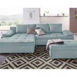 Sit&more Eck-Sofa, blau, komfortabler Federkern