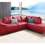 Sit&more Eckcouch ohne Schlaffunktion, rot, FSC®-zertifiziert