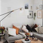 Small Lounge Living Room Inspo Neutral Tones White Walls Dark Wood Floors Home D...
