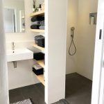 Small space but functional. Nice shelves&space under sink - #functional #Nice #s - Today Pin