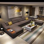 US $579.0  living room furniture modern L shaped fabric corner sectional sofa set design couches for living room with chaise longue ottoman-in Living Room Sofas from Furniture on Aliexpress.com   Alibaba Group