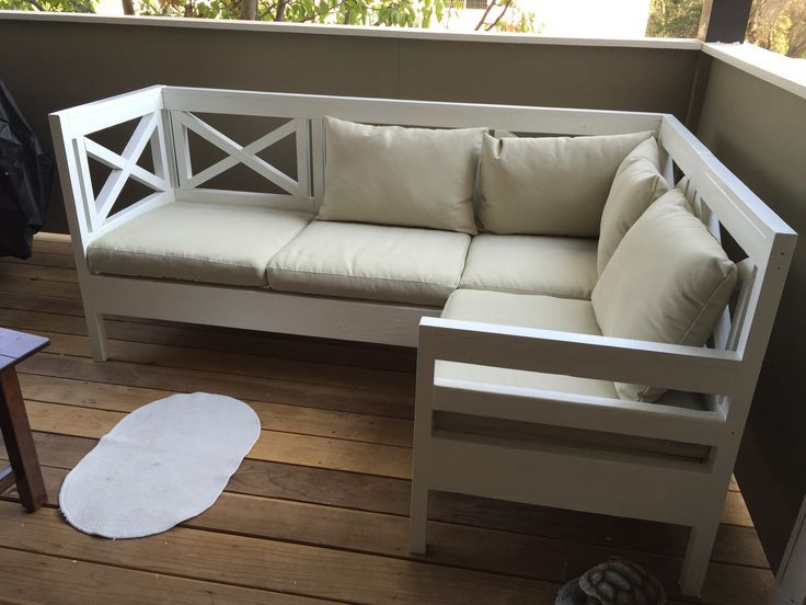 Weatherly outdoor sectional | Do It Yourself Home Projects from Ana White