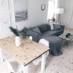 Wohn- und Esszimmer im skandinavischen Look