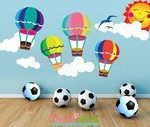 hot air balloon nursery, nursery wall decals, Kids Room Decor, wall stickers for...