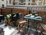 kreative balkon datenschutz ideen terrasse bambusgeländer #balconyprivacy kreat...