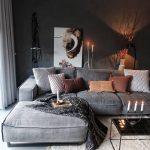 lounge sofa with a nice berber and nice lighting🖤 - Pin Coffee